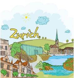 Zurich doodles vector
