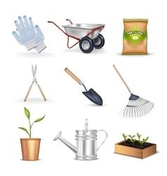 Gardening Decorative Icons Set vector image vector image