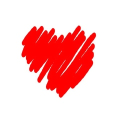 Heart red icon brush vector image vector image