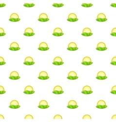 Hill and sun pattern cartoon style vector