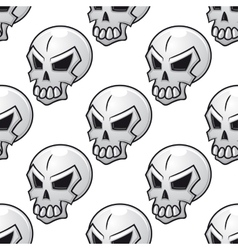 Seamless pattern with scary evil skull vector image vector image