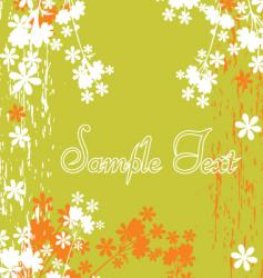 decorative floral vector image vector image