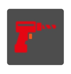Drill rounded square button vector