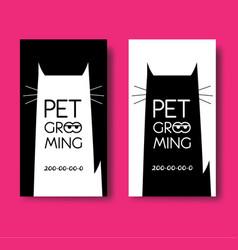 logo for pet hair salon pet grooming salon vector image vector image