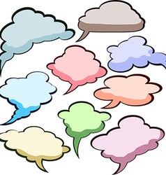 Speech color clouds vector image