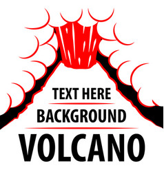 volcano background the eruption of the volcano in vector image