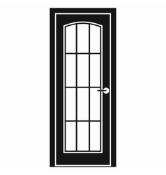 Door with glass icon simple style vector image vector image