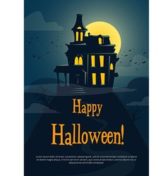 Halloween background with spooky castle vector image