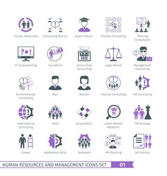 Human resources set 01 vector
