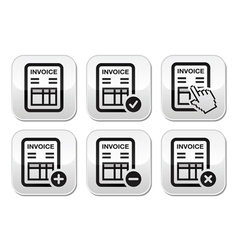 Invoice finance buttons set vector image vector image