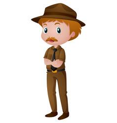 Man in park ranger costume vector