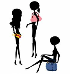 shopping girl with bag vector image