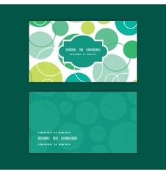 abstract green circles horizontal frame vector image vector image