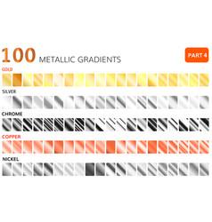 metallic gradients big set golden vector image
