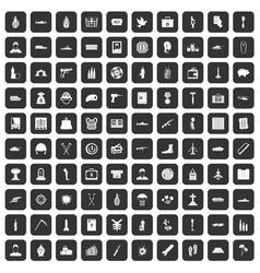 100 war crimes icons set black vector
