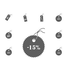 15 sale icon sale and discount vector image