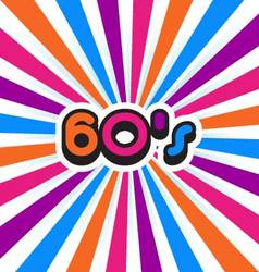 60s Party Background vector