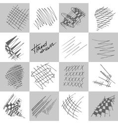 Abstract strokes vector