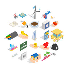 Automation icons set isometric style vector