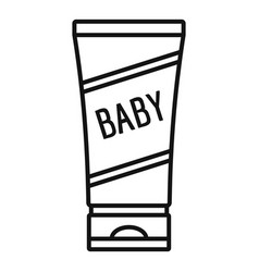 baby cream tube icon outline style vector image
