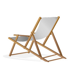 beach chair over white background vector image