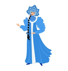 Beautiful Snow Maiden vector image