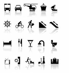 Black icons vector