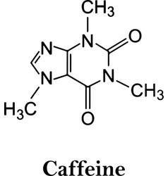 Caffeine chemical elements vector