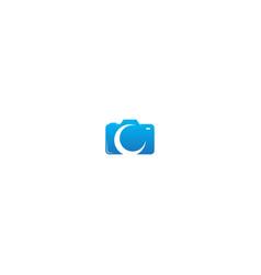 camera sign logo vector image