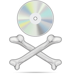Cd pirating icon vector