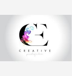 Ce vibrant creative leter logo design vector