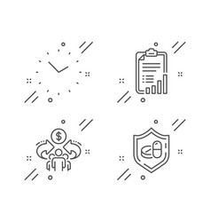 Checklist sharing economy and time icons set vector