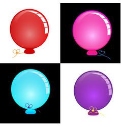 circle balloon bright and colorful vector image