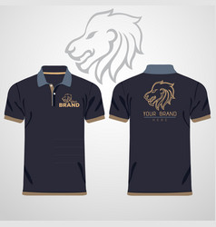 color men polo shirts design template vector image