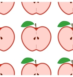 colorful seamless pattern with apples on white vector image