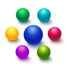 colorful sphere or ball isolated vector image