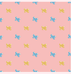 Cute seamless pattern with bows simple style vector