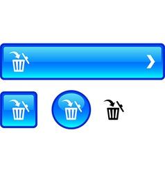 Delete button set vector