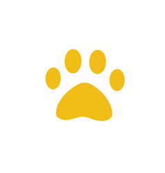 dog or cat paw symbol of pet animal footprint vector image