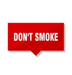 Dont smoke red tag vector