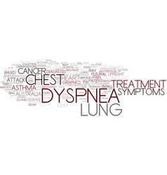 Dyspnea word cloud concept vector