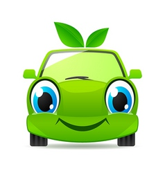 eco friendly car vector image vector image
