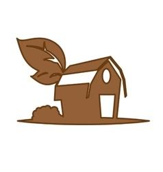 farm barn icon vector image
