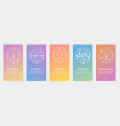 five vertical banners - own business vector image