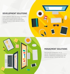 Flat Design Banners for business development vector image
