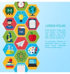 Flat education infographic background vector