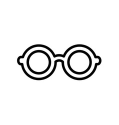 flat line glasses icon vector image