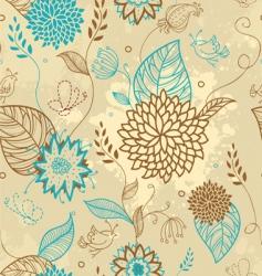 Floral doodle pattern vector