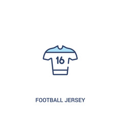 Football jersey concept 2 colored icon simple vector