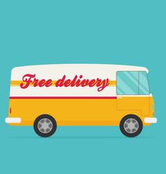 Free shipping car flat vector
